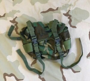 US GI TRAINING FIELD BUTT PACK NSN 8465-00-935-6825 WOODLAND CAMO ALICE CLIP