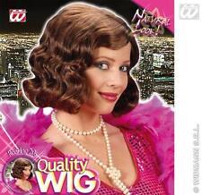Ladies Brown Charleston Bob Wig 20'S Flapper Bugsy Malone Fancy Dress