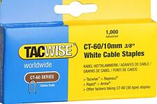 Tacwise CT-60/10mm White Cable Tacker Staples (Box of 1000 )