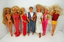 Vintage Barbie Ken Fashion Dolls Mattel Kenner Clothes Sold As Found Lot P