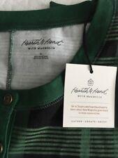 NEW|Hearth & Hand w/ Magnolia Women's Pajama Union Suit Green Plaid | Size XL