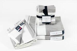 Tommy Hilfiger  home  Bathroom Towel Set Solid 8 pcs set OEKO-TEX Standard New