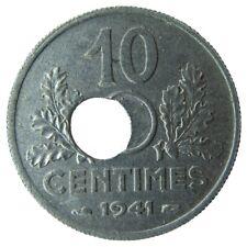 F14102.1 - FRANCE - 10 centimes Etat Français - 1941 - perforation décentrée