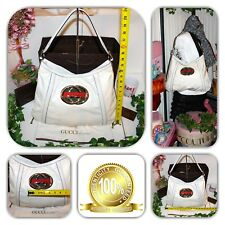 HANDSOME-GUCCI WHITE LEATHER INTERLOCK LIMITED EDITION PURSE/TOTE/HANDBAG!