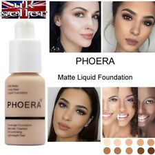 PHOERA Foundation Concealer Makeup Full Coverage Matte Brighten long lasting UK