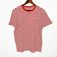 J.Crew Red White Short Sleeve Striped Pocket Shirt Wheres Waldo Costume Large
