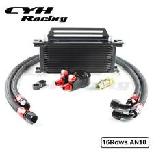 Universal 16 Row British Style 16Rows Oil Cooler Kits+Filter Adapter+Bracket