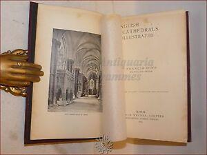 ARCHITETTURA - Bond: English Cathedrals Illustrated  1899 CATTEDRALI INGHILTERRA