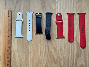 Authentic Apple Watch Band Lot (3) Red, White, Blue 38mm