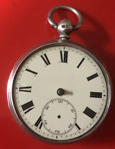 ANTIQUE  SILVER  THOMAS FOX LIVERPOOL FUSEE POCKET WATCH For RESTORATION