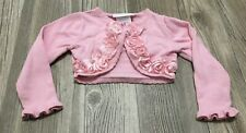 Bonnie Baby Girl's 24 Month Cardigan Dress Sweater Pink Rosette GUC (H3)