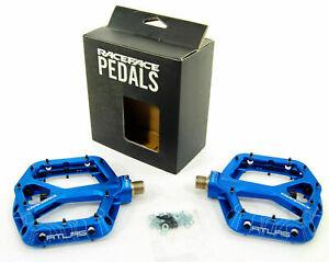 NEW RACE FACE RACEFACE ATLAS DH/MTB BIKE BICYCLE PLATFORM ALUMINUM PEDALS - BLUE