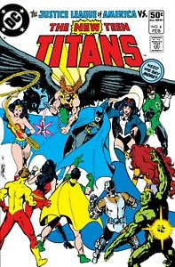 """THE NEW TEEN TITANS #4 COMIC BOOK COVER 11""""x17"""" POSTER PRINT"""