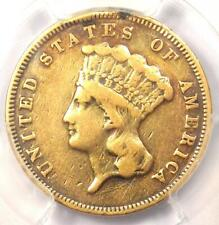 1874 Three Dollar Indian Gold Piece $3 - Certified PCGS VF Details - Rare Coin!