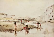 Frank Sauerwein 1902 Laguna Pueblo Native American Indian painting New Mexico