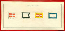 SIGNAL FOR PILOTS DANISH, PRUSSIAN, AUSTRIAN AND UNITED STATES VINTAGE CARD 211