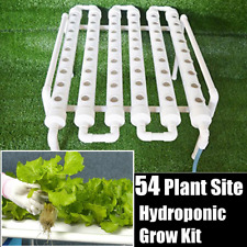 54 Holes Hydroponic Piping Site Grow Kit Deep Water Culture Planting Box