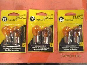 2357NA--GE--LOT--OF--6--AMBER--Turn Signal Light Bulb-Standard Lamp 2357NA/BP2