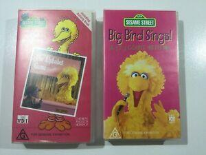 Big Bird Sesame Street VHS Big Bird Sings + The Alphabet Game Free Postage