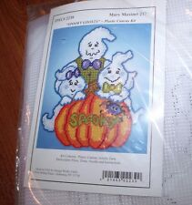 Cute SPOOKY GHOSTS Ghost Family Plastic Canvas Kit  Design Works