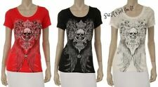 L Juniors Size Short Sleeve Embellished Tees for Women