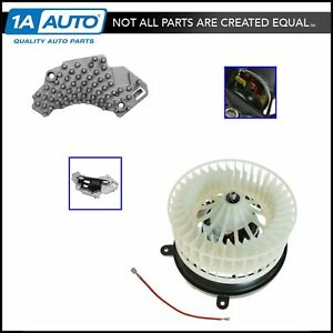 Heater Blower Motor with Fan Cage & Resistor for Mercedes Benz CLK320 CLK430