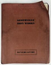 Antique 1930's SOMERVILLE IRON WORKS Cast Iron PIPE CATALOG Buyers Price Guide