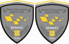 Renault F1 Team Megane Clio Twingo RS R.S. 80mm Wing Decals Stickers styling