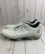 New listing Footjoy FJ DNA DryJoys 53401 White Leather Mens Spiked Golf Shoes US Size 9.5