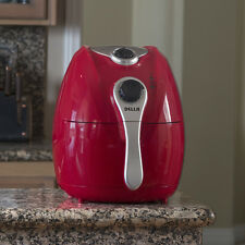 Electric Air Fryer w/ Temperature Control, Detachable Basket & Carry Handle, Red