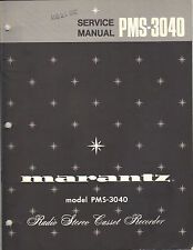 Marantz Service Manual Model PMS3040 cassette tape deck player Original Repair