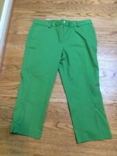 TALBOTS Green Chatham Stretch Ankle Pants  Sz 8