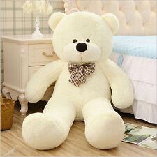 HOT GIANT 140CM BIG CUTE PLUSH TEDDY BEAR HUGE White SOFT 100% COTTON TOY GIFT