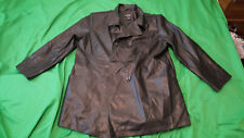 Outbrook women plus size 1X black faux Leather jacket double breasted.
