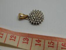 Beautiful Half Carat Diamond Pendant 9K Custer Hallmarked and stamped 0.50 1/2