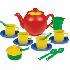 Play Tea Set 15+ Durable Plastic Pieces Safe and BPA Free for Kid's Tea Party
