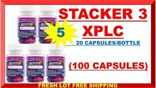 Stacker 3 XPLC 100 Capsules Herbal Dietary 20 ct (Lot of 5X Bottle) 10/2019