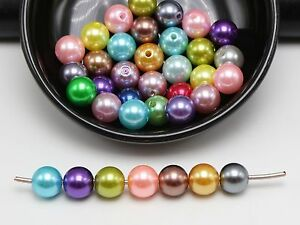 500Pcs Mixed Color Plastic Faux Pearl Round Beads 10mm Imitation Pearl Wholesale