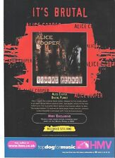 ALICE COOPER Brutal Planet (HMV) UK magazine ADVERT / mini Poster 11x8 inches