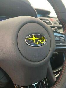 Subaru vinyl STEERING wheel overlay | WRX STI, Crosstrek, Outback, Impreza |