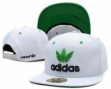 Adidas Trefoil Snapback Flat Cap White and Green: One Size Fits Most