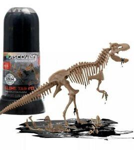 Discovery #Mindblown Slime Tar Pit Tube Velociraptor Dino 3D Skeleton Puzzle