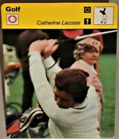"""Catherine Lacoste 1978 Womens Pro Golf Sportscaster 6.25"""" Card 29-06 Inter Champ"""