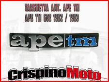 TARGHETTA ANT. APE TM 602 - 1982/83 TM 703/703V/FL2 1984/2005