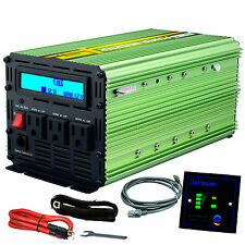EDECOA Power Inverter 2000W 4000 Watt 12V dc to 110V 120V ac LCD Cables car RV