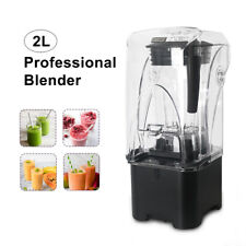Black 2200W Commercial 2L Soundproof Blender Smoothie Maker Mixer Juicer 220V