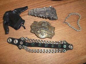 VINTAGE HARLEY BIKER BUCKLEs and accessories.