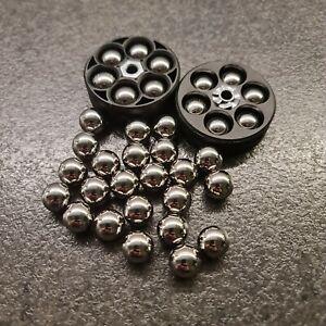 NEW! Cal .50 RAM Chrome Steel full metal balls for HDR 50 T4E 25/50