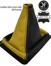 Negro y Amarillo grano superior de cuero MANUAL GEAR GAITER encaja Kia Sorento MK1 02-09