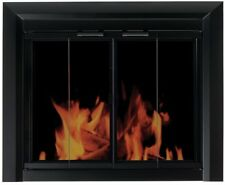 """Pleasant Hearth Clairmont Small Glass Fireplace Doors Fits 30-37"""" W 22.5-29.5"""" H"""